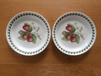 £14.95 • Buy PORTMEIRION 'STRAWBERRY FAIR' SET OF 2 X SIDE PLATES / DESSERT PLATES 7.4 INCHES