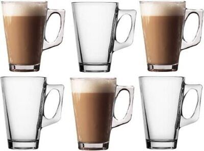 £6.99 • Buy Pack Of 6 Latte Cups Tea Coffee Café Cappuccino Hot Drinking Cups