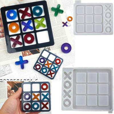 £3.98 • Buy XXOO Game Board XO Silicone Resin Casting Mold Crystal Making Epoxy Mould Craft
