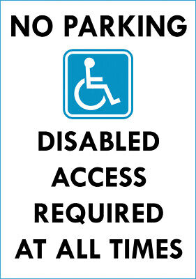 £3.99 • Buy  No Parking Disabled Access Required  Metal Sign Notice No Parking Keep Clear