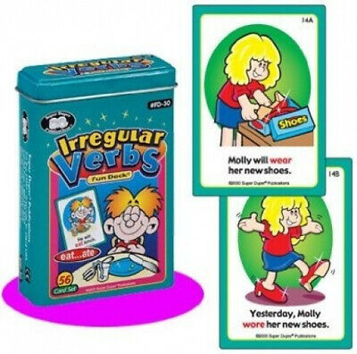 AU45.62 • Buy Irregular Verbs Fun Deck Cards - Super Duper Educational Learning Toy For Kids