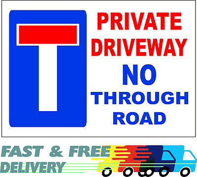 £8.99 • Buy Private Driveway No Through Road - Sign