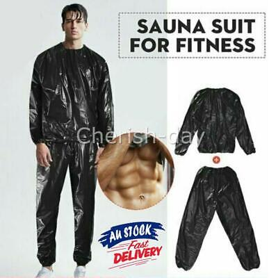 AU16.95 • Buy Sauna Sweat Suit Weight Loss Non Rip For Gym Fitness Exercise Boxing Unisex New