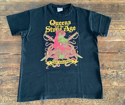 """£19.99 • Buy Mens Band T Shirt Queens Of The Stone Age Era Vulgaris Official Sol's Size S 38"""""""