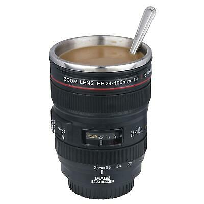 £8.99 • Buy Camera Lens Mug Coffee Tea Stainless Steel Travel Cup Thermos Flask Sipping Lid