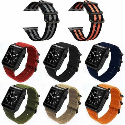 $8.38 • Buy Nylon Durable Military-Style Buckle Strap For Apple Watch Band SE 6 5 4 3 2 1