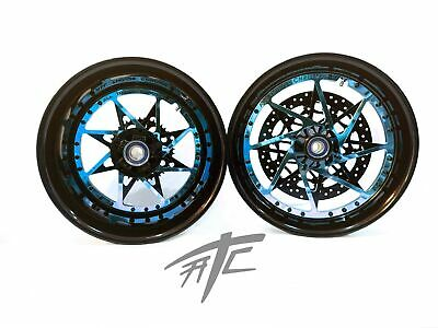 $3099.99 • Buy Gsxr 240 Fat Tire Black & Candy Blue Switchback Wheels 01-08 Suzuki Gsxr 1000