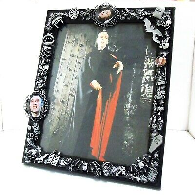 DRACULA THEMED PHOTO FRAME Picture Christopher Lee Goth Gothic Horror Vampire • 24.99£