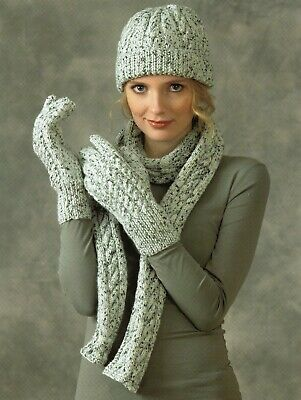 £2.60 • Buy Knitting Pattern  Ladies Hat Scarf And Gloves DK Cable Pattern One Size  #313