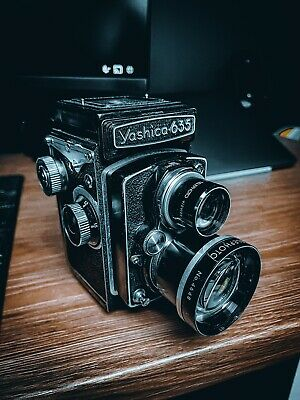 View Details Yashica 635 Vintage Twin Lens Reflex Medium Format Camera TLR With Tele Lens • 349.00£