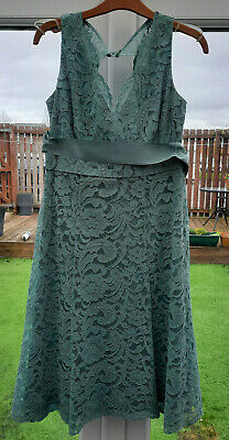 £19.99 • Buy BHS Sage Green Bridesmaid's Dress - Size 10 (British Home Stores)
