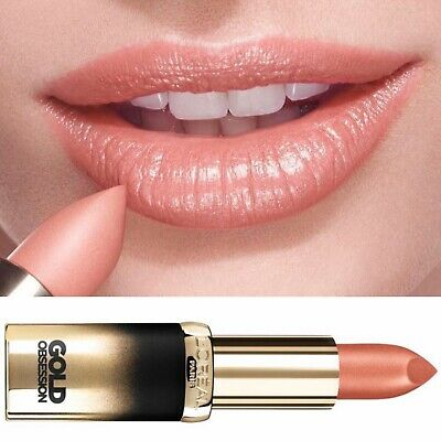£4.99 • Buy L'Oreal Beige Gold Obsession Nude Lipstick Metallic Natural Color Riche