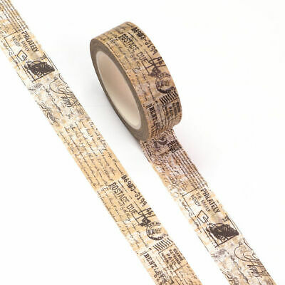 AU5.50 • Buy Washi Tape Vintage Post Mark Script Text Writing Stamp 15mm X 10m