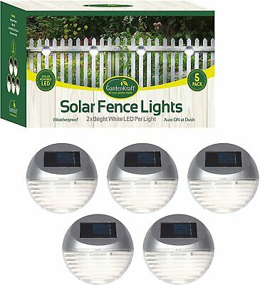 £14.95 • Buy 5 X Solar Led Step Fence Wall Path Lights Outdoor Garden Lights Waterproof Auto