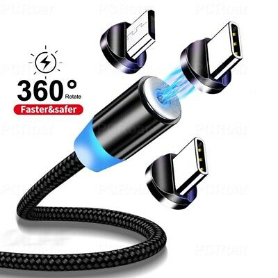 AU5.99 • Buy Magnetic Charging Charger Cable Cord Type-C Micro USB IOS For IPhone Samsung