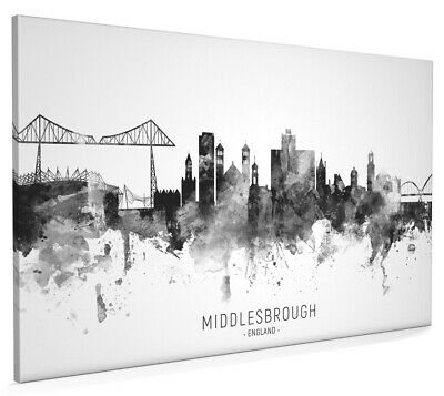 £13.99 • Buy Middlesbrough Skyline England, Poster, Canvas Or Framed Print, Painting 11445