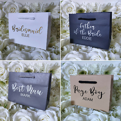 £4.75 • Buy Personalised Wedding Bridal Party Groomsmen Boutique Gift Bags Various Sizes NEW