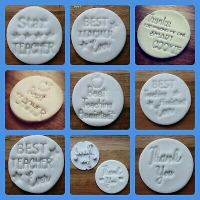 £9 • Buy Teacher Gift Embossing Cupcake And Cake - Stamps Fondant Best Teacher Assistant
