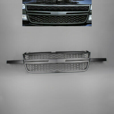 $113.95 • Buy New Front Bumper Grille Black Fit For 05-07 Chevy Silverado 1500 2500HD 3500