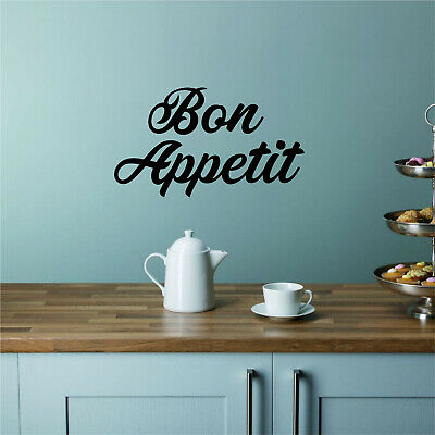 £3.50 • Buy BON APPETIT Kitchen Vinyl Wall Art Sticker Quote Decal Transfer French Dining
