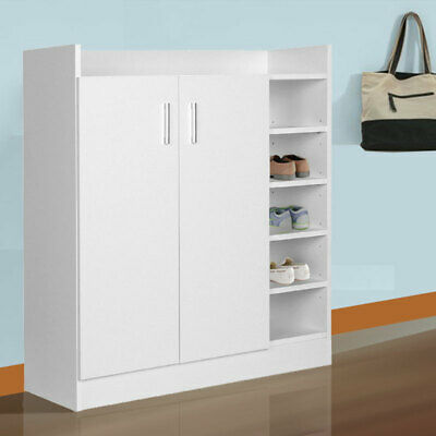 AU99 • Buy Shoe Cabinet Shoes Storage Rack 21 Pairs Wooden Organiser Shelf Cupboard White