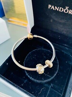 AU300 • Buy Pandora Moments Bangle - 14ct Gold Clasp (not Plated) -  17cm