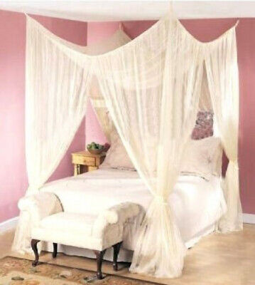 AU91.82 • Buy Dreamma 4 Poster Bed Canopy Mosquito Net Queen King Size. Best Price