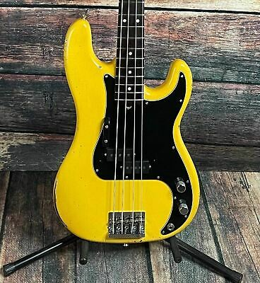 Used Fender/ MJT Precision P-Bass Parts Bass With Hard Shell Case- Yellow • 946.10£