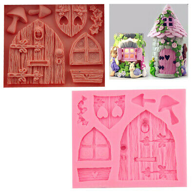 3D Fairy Elf House Door Silicone Fondant Mould Cake Decorating Chocolate Mold  • 3.25£