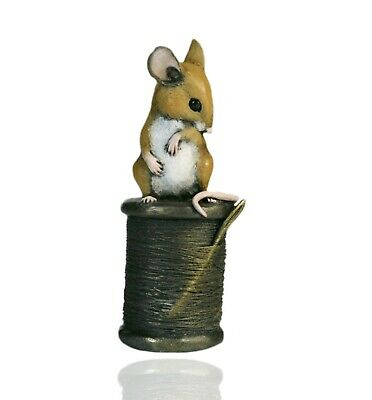 £28.49 • Buy Mice Cold Cast Bronze Mouse On Cotton Reel - Hand Painted - Michael Simpson.