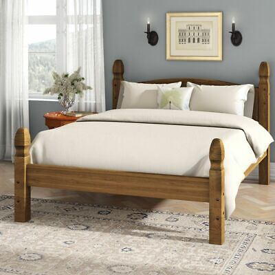 £129.99 • Buy Corona Double Bed 4ft6 Low Foot End Mexican Solid Pine Frame Bedroom Furniture