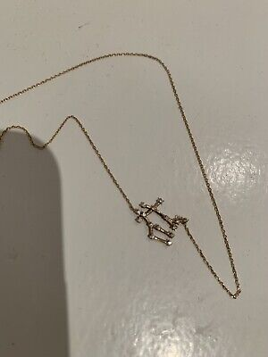 AU350 • Buy Sarah And Sebastian Gold And Diamond Gemini Constellation Necklace