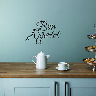 £3.50 • Buy BON APPETIT Kitchen Vinyl Wall Art Sticker Quote Decal Transfer French Dining 2