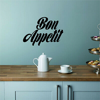 £3.50 • Buy BON APPETIT Kitchen Vinyl Wall Art Sticker Quote Decal Transfer French Dining 3