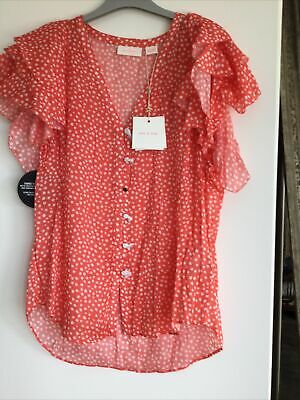 AU120 • Buy Sass And Bide Ma Fleur Top Size 44/14 New With Tags Paid $350