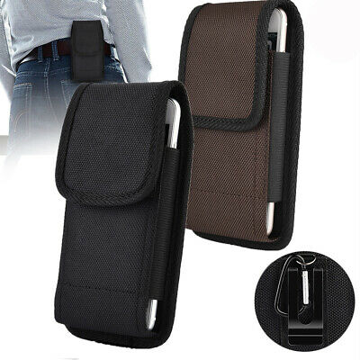 AU24.99 • Buy 2x Universal Pouch Case Belt Clip For Cell Phone Nylon Phone Carrying Bag Cover