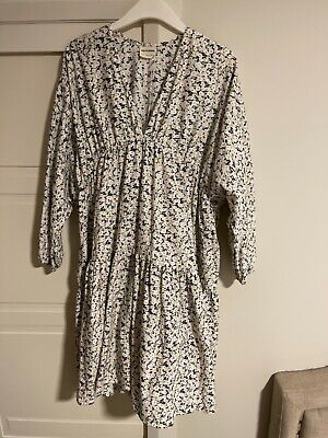 AU55 • Buy Stunning ZULU And ZEPHYR Full Sleeve Tiered Dress Floral Prairie Sz 14 Floaty