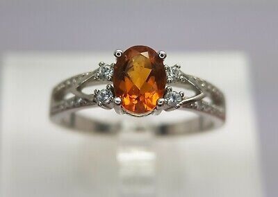 £49.69 • Buy Natural Madeira Citrine 925 Sterling Silver Ring