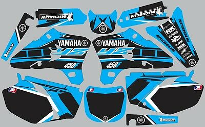 $95 • Buy Light Blue YAMAHA GRAPHICS  YZ 450F YZ450F 2003 2004 2005 Decals