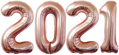 $15.99 • Buy Rose Gold 2021 Balloon For 2021 Graduation Decorations - Large, 40 Inch   Foil M