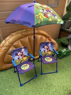 £25 • Buy Kids Mickey Mouse Club House Sun Chair And Parasol
