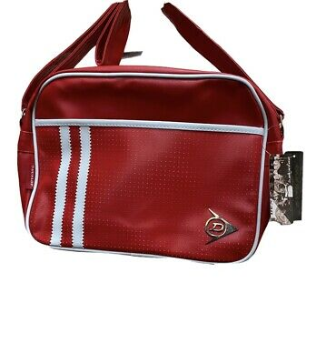 £12.99 • Buy Dunlop Sport*school Work*Shoulder Bag*RED/WHITE STRIPE*Colour*Brand New With Tag