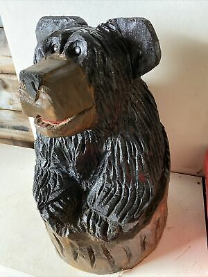 £50 • Buy Chainsaw Carved Bear In Stump Black Bear Carvings Chainsaw Carvings