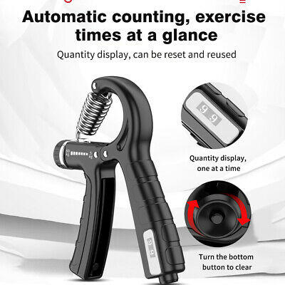 AU6.80 • Buy 5-60kg Adjustable Hand Grip Strengthener Automatic Counting Pinch Finger Trainer