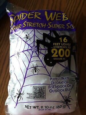$ CDN39.99 • Buy LOT 20 Count - Brand New - Fun World Super Stretch Spider Web For Decoration USA
