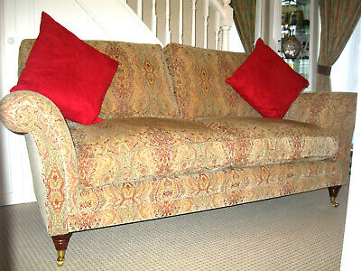 £1049 • Buy Parker Knoll Burghley Large 2 Seater Sofa In Baslow Medallion Gold.