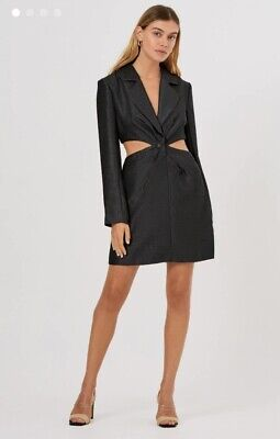 AU30 • Buy Finders Keepers Yves Tailored Blazer Dress Black New RRP $219.95 Sold Out Style