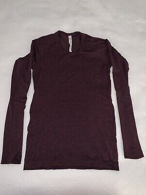 $ CDN28.25 • Buy LULULEMON Red+ Black Heathered Swiftly Tech Long Sleeve Pullover Top Size 8
