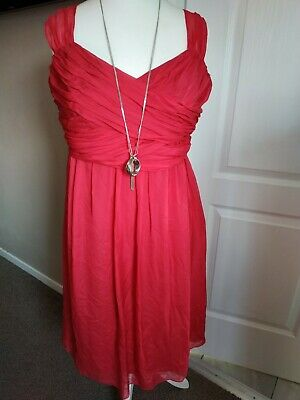 AU62.52 • Buy LK Bennett Pink Dress 100% Silk Fit N Flare Party Special Occasion Size 14/ 16