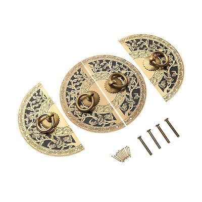 AU10.69 • Buy Furniture Hardware Cabinet Plate Handle Door Pull Knocker Antique Brass Chinese